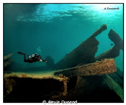 The &quot;birdpoo&quot; wreck, Arrecife, Canary Islands. by Alexia Dunand 